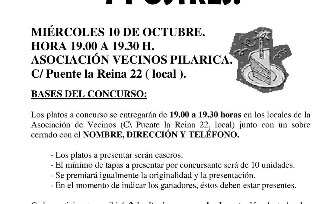 CONCURSO DE TAPAS Y POSTRES
